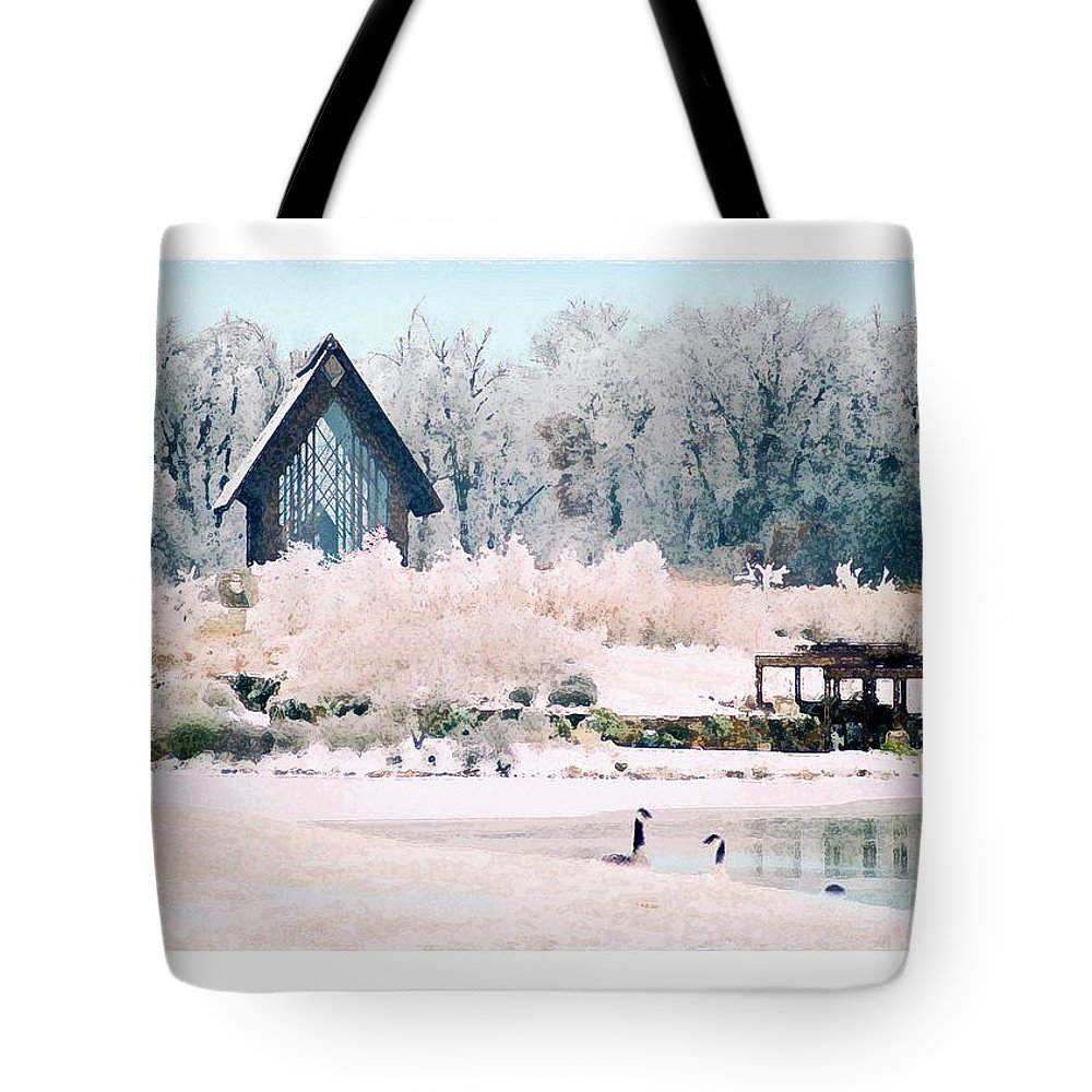 Landscape Tote Bag featuring the photograph Powell Gardens Chapel by Steve Karol