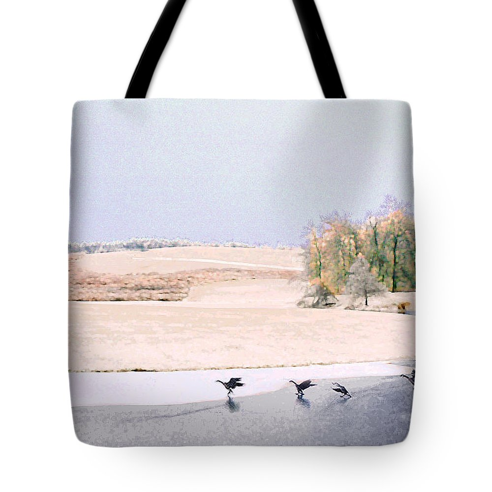 Landscape Tote Bag featuring the photograph Powell Gardens in Winter by Steve Karol
