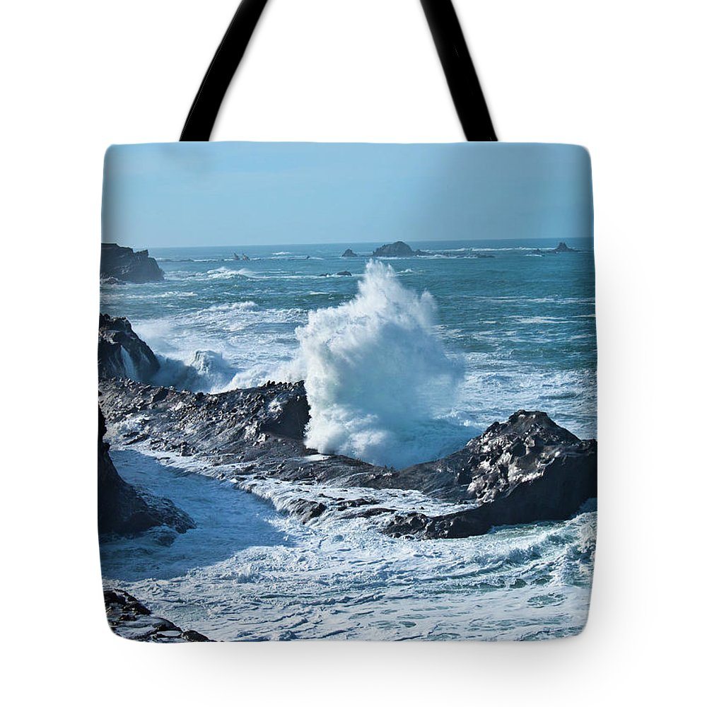 Power Tote Bag featuring the photograph Power by Merrill Beck