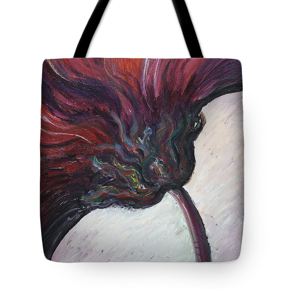 Purple Tote Bag featuring the painting Power Of Purple by Nadine Rippelmeyer