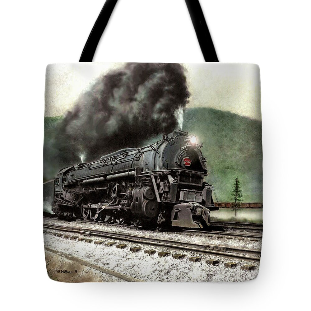 Tote Bag featuring the painting Power On The Curve by David Mittner