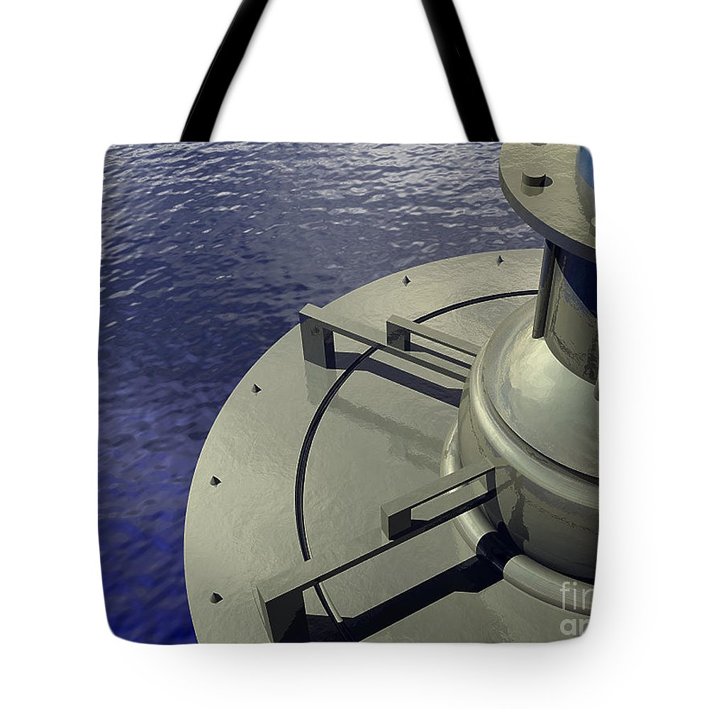 Power Tote Bag featuring the digital art Power Platform #2 by Phil Perkins