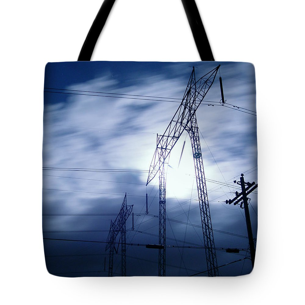 Clouds Tote Bag featuring the photograph Power Surge by Peter Piatt