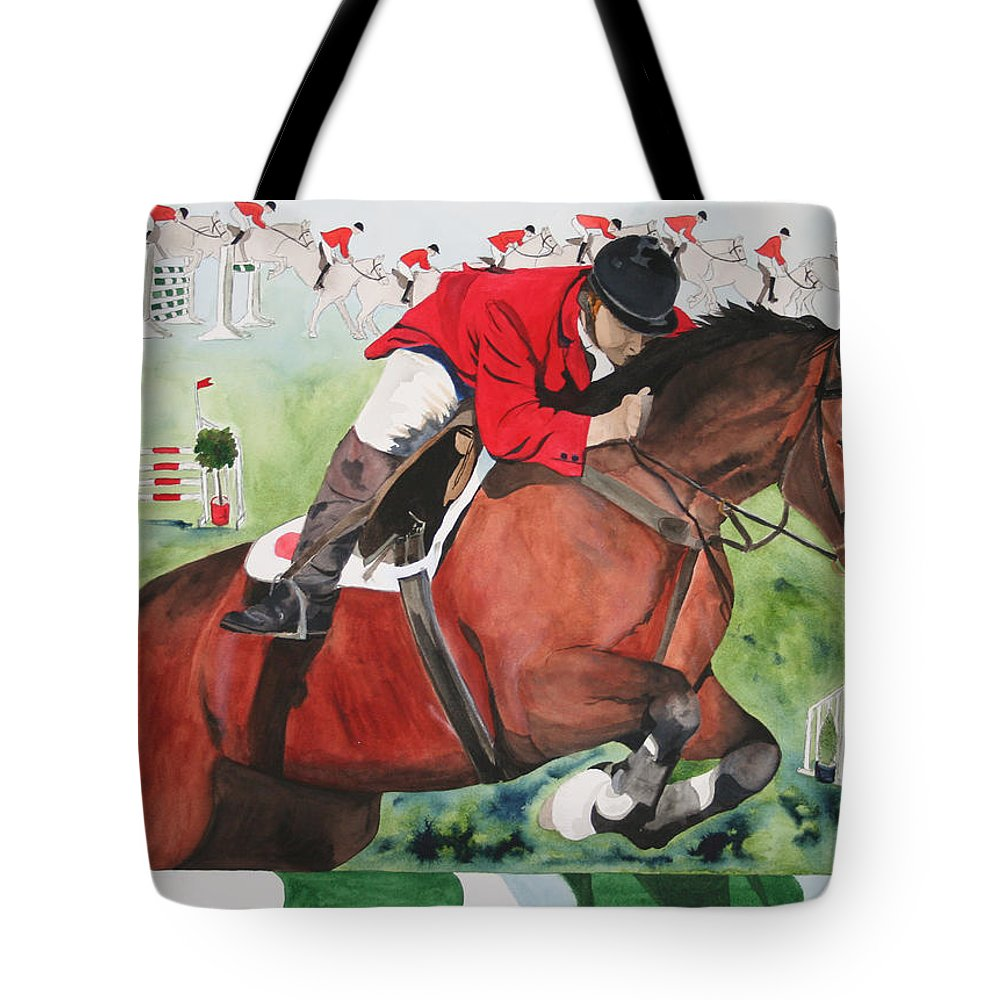 Horse Tote Bag featuring the painting Practice Makes Perfect by Jean Blackmer