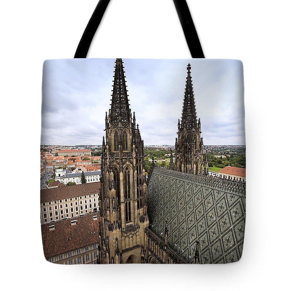 Prague Tote Bag featuring the photograph Prague Castle by Madeline Ellis