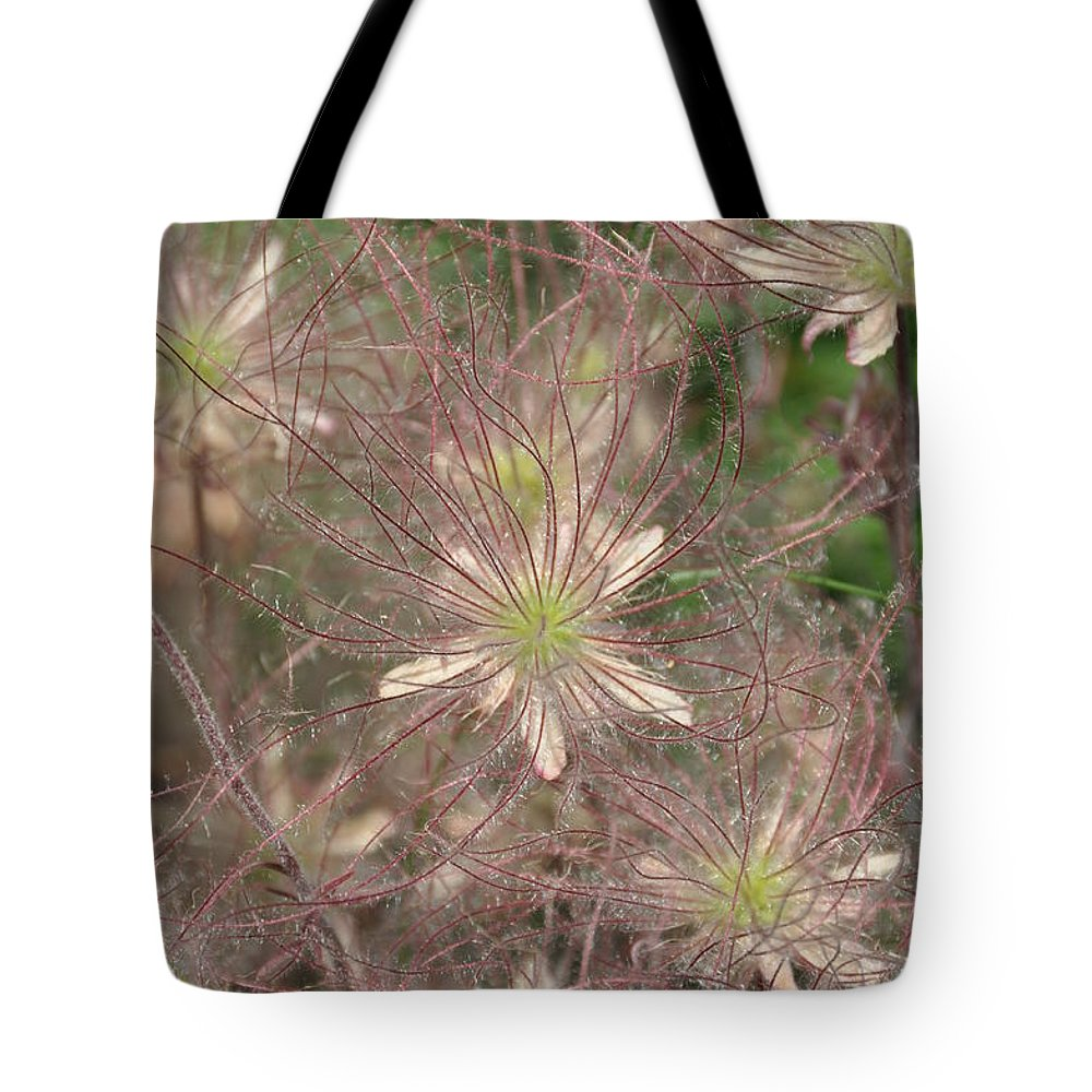 Flower Tote Bag featuring the photograph Prarie Smoke 2 by Rich Bodane