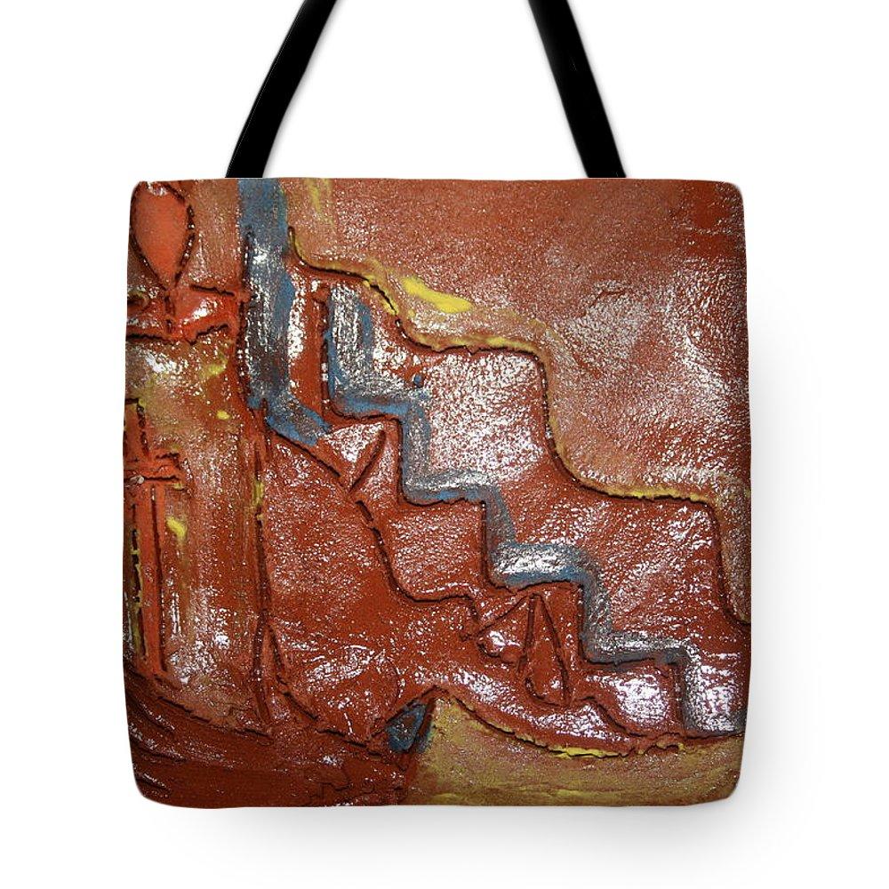 Jesus Tote Bag featuring the ceramic art Prayer 24 - Tile by Gloria Ssali