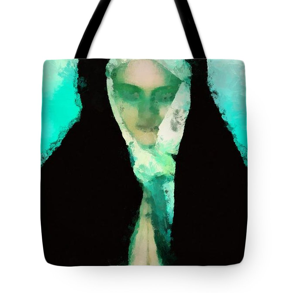 Castle Tote Bag featuring the painting Prayer by Pierre Blanchard