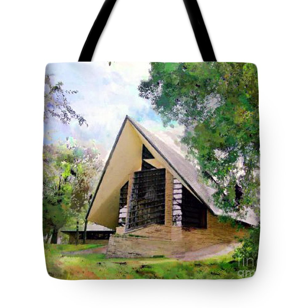 Praying Hands Tote Bag featuring the digital art Praying Hands by John Beck