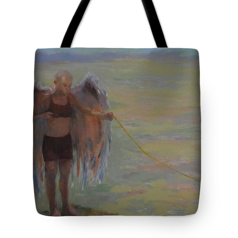 Narrative Tote Bag featuring the painting Pre-flight Check by Barbara Harrison