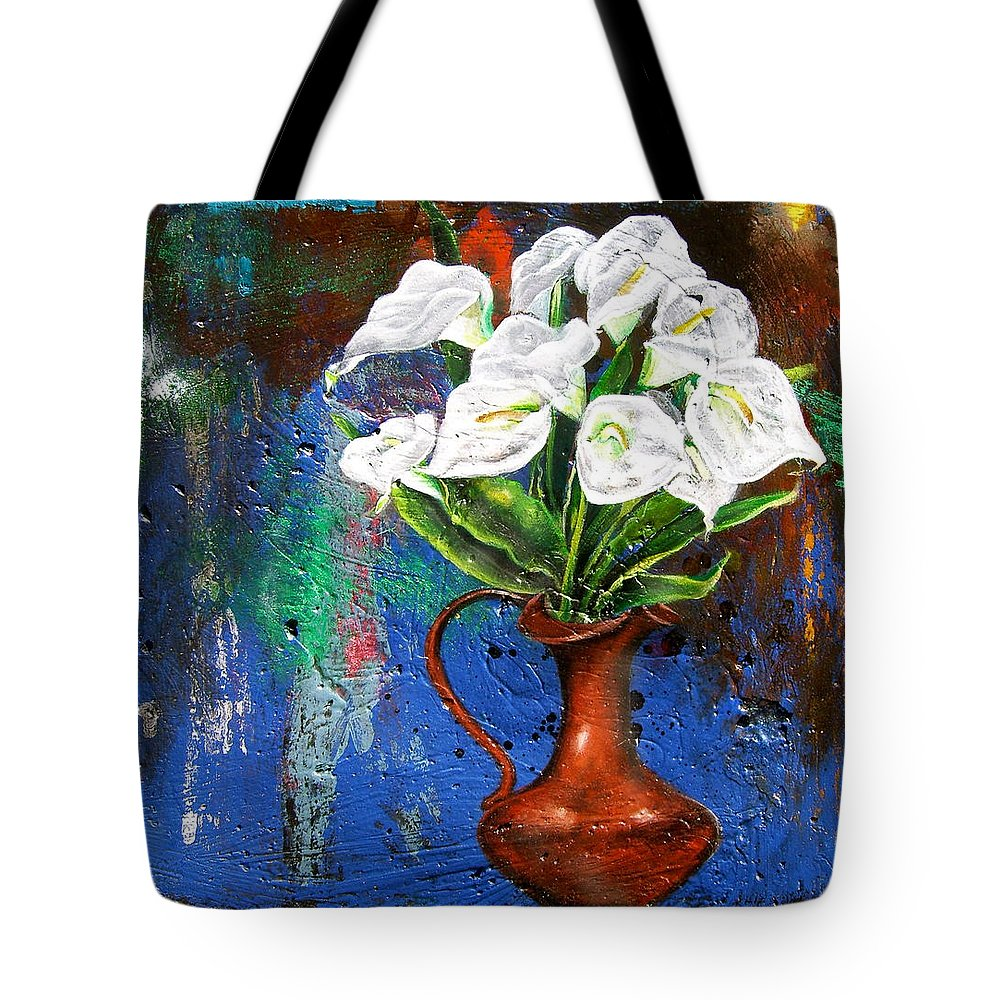 Orchid Painting Tote Bag featuring the painting Preacher In The Pulpit 2 by Laura Pierre-Louis