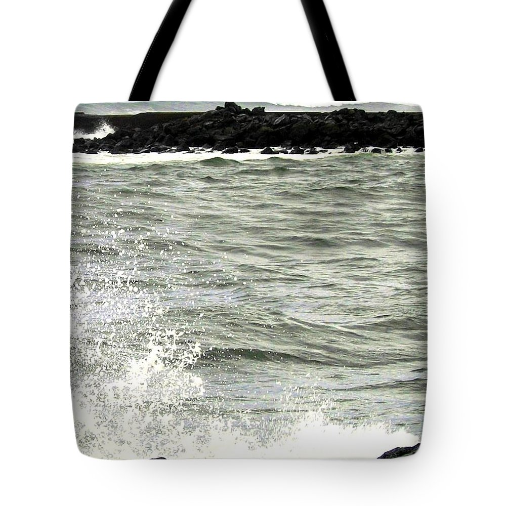 Stormy Tote Bag featuring the photograph Precarious by Will Borden