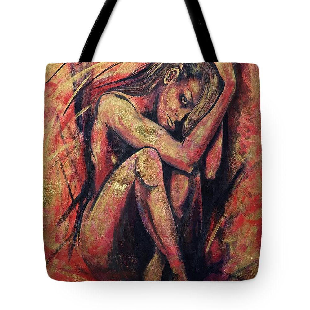 Precious Metals Iv Tote Bag featuring the painting Precious Metals Iv by Debi Starr