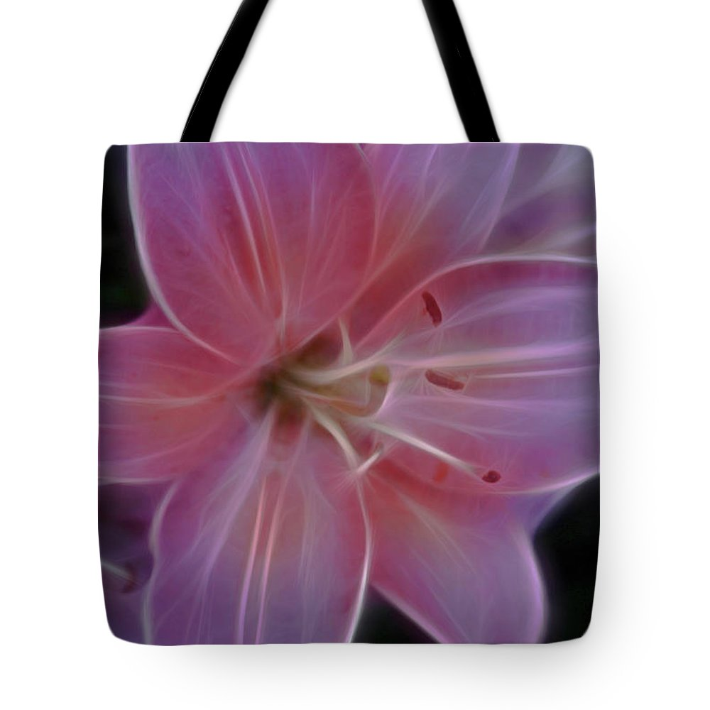 Pink Lily Photographs Tote Bag featuring the photograph Precious Pink Lily by Joann Copeland-Paul
