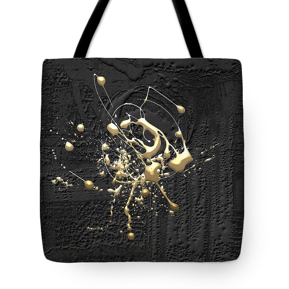�the Abstracts� Collection By Serge Averbukh Tote Bag featuring the photograph Precious Splashes - Set of 4 by Serge Averbukh