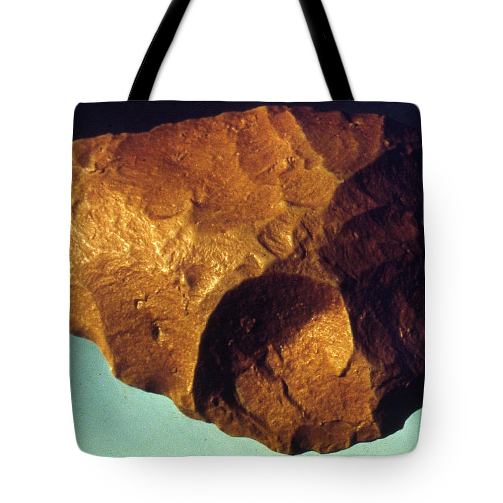 Ancient Tote Bag featuring the photograph Prehistoric Flint Blade by Granger