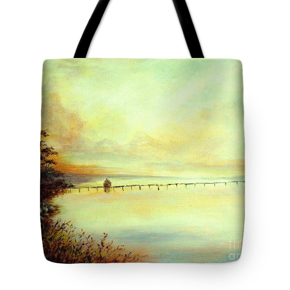 Canvas Prints Tote Bag featuring the painting Prelude by Madeleine Holzberg