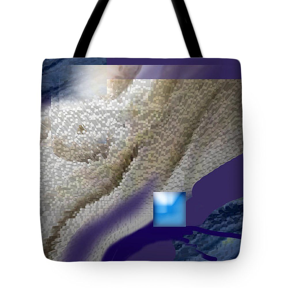 Abstract Tote Bag featuring the digital art Prelude To A Dream by Steve Karol