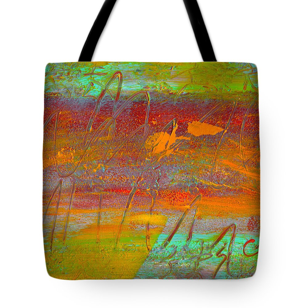 Abstract Tote Bag featuring the painting Prelude To A Sigh by Wayne Potrafka