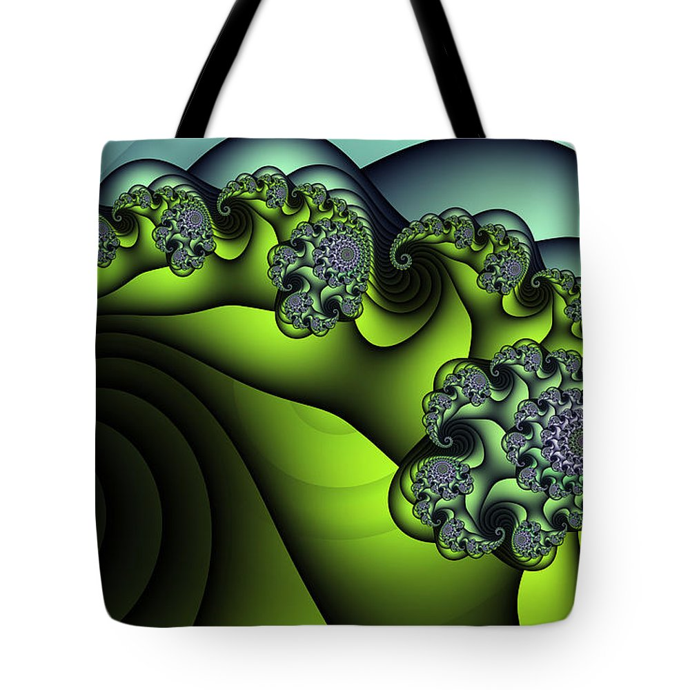 Fractal Tote Bag featuring the digital art Premiere by Jutta Maria Pusl