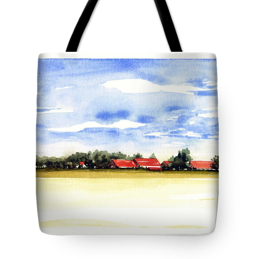 Plein Air Landscape Tote Bag featuring the painting Prenzing Bavaria by James Higgins