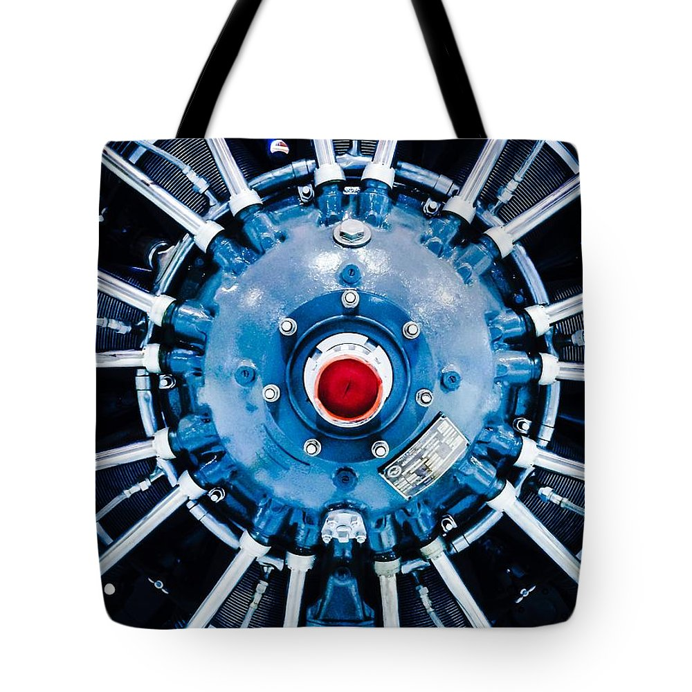 Propeller Tote Bag featuring the photograph Prepare For Flight by Michael Gailey