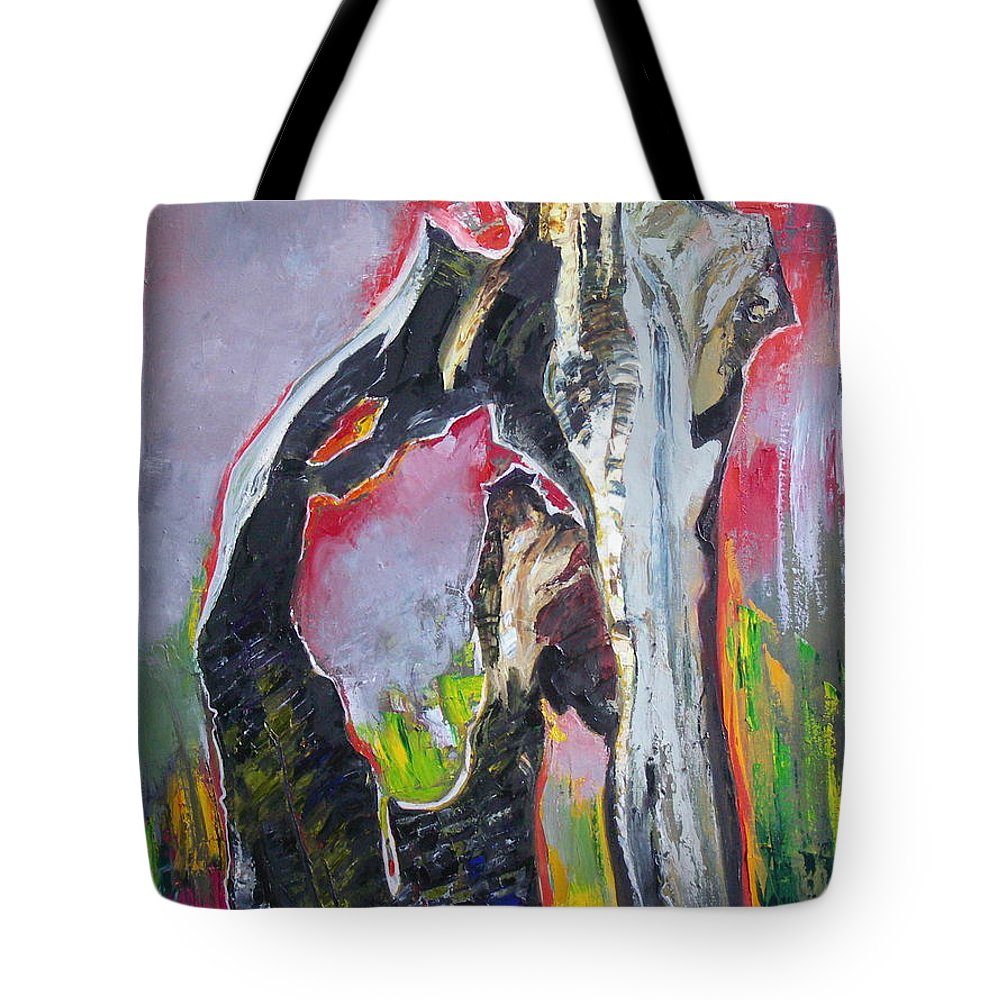 Oil Tote Bag featuring the painting Presentiment by Sergey Ignatenko