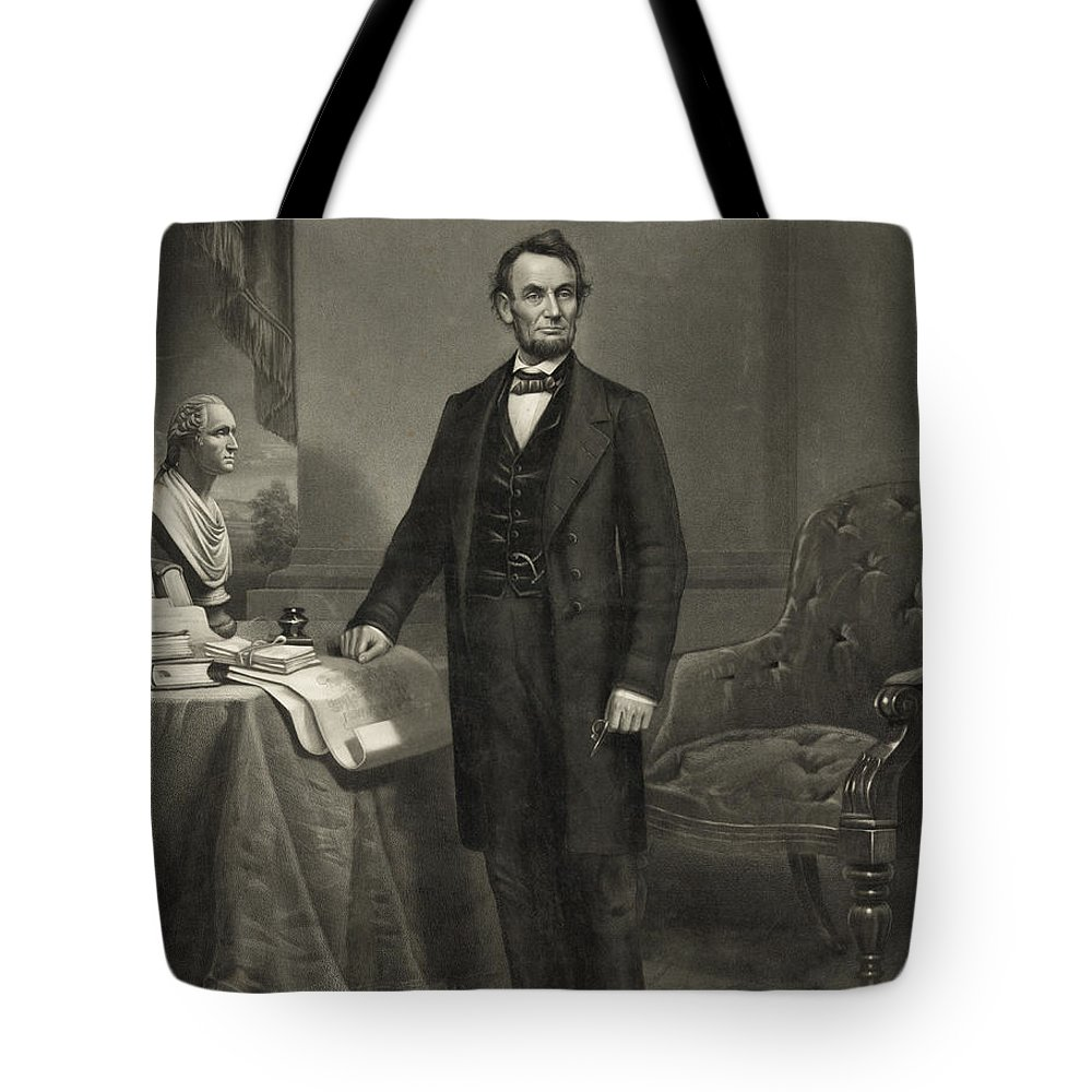 abraham Lincoln Tote Bag featuring the photograph President Abraham Lincoln by International Images