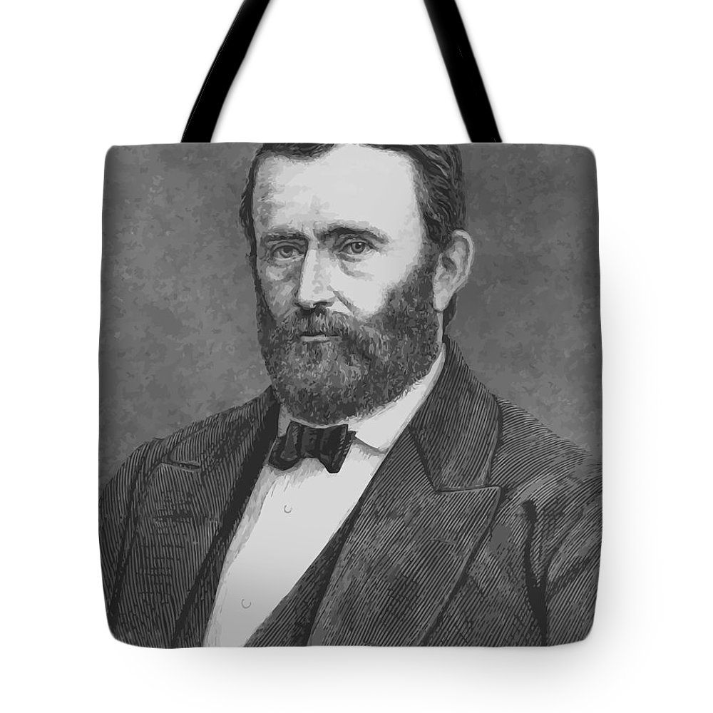 Grant Tote Bag featuring the painting President Grant by War Is Hell Store