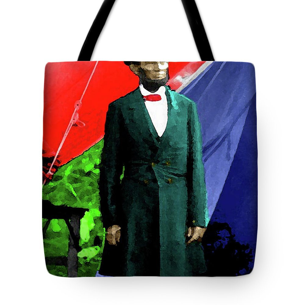 Lincoln Tote Bag featuring the photograph President Lincoln by Jost Houk