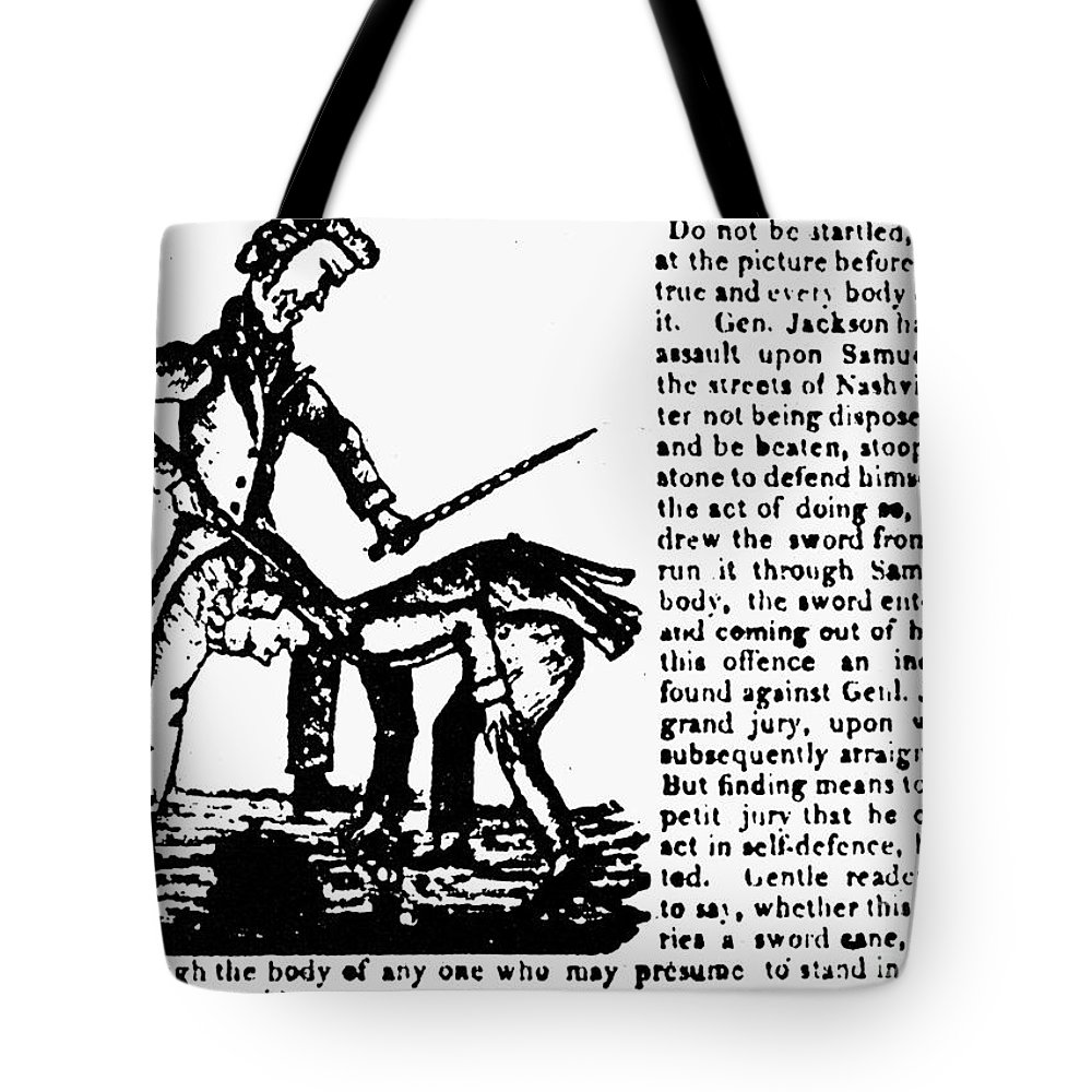1828 Tote Bag featuring the photograph Presidential Campaign, 1828 by Granger