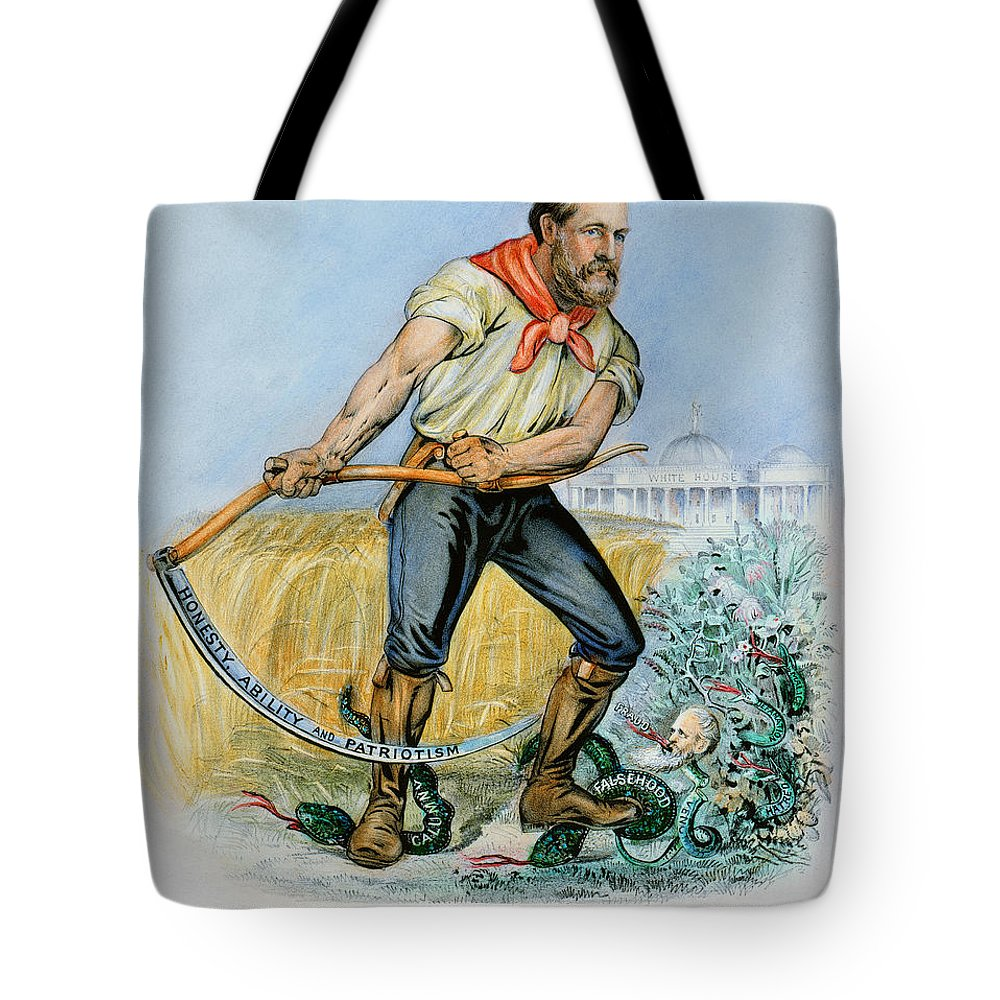 1880 Tote Bag featuring the photograph Presidential Campaign, 1880 by Granger