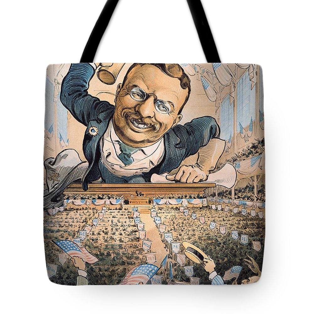 1904 Tote Bag featuring the photograph Presidential Campaign, 1904 by Granger