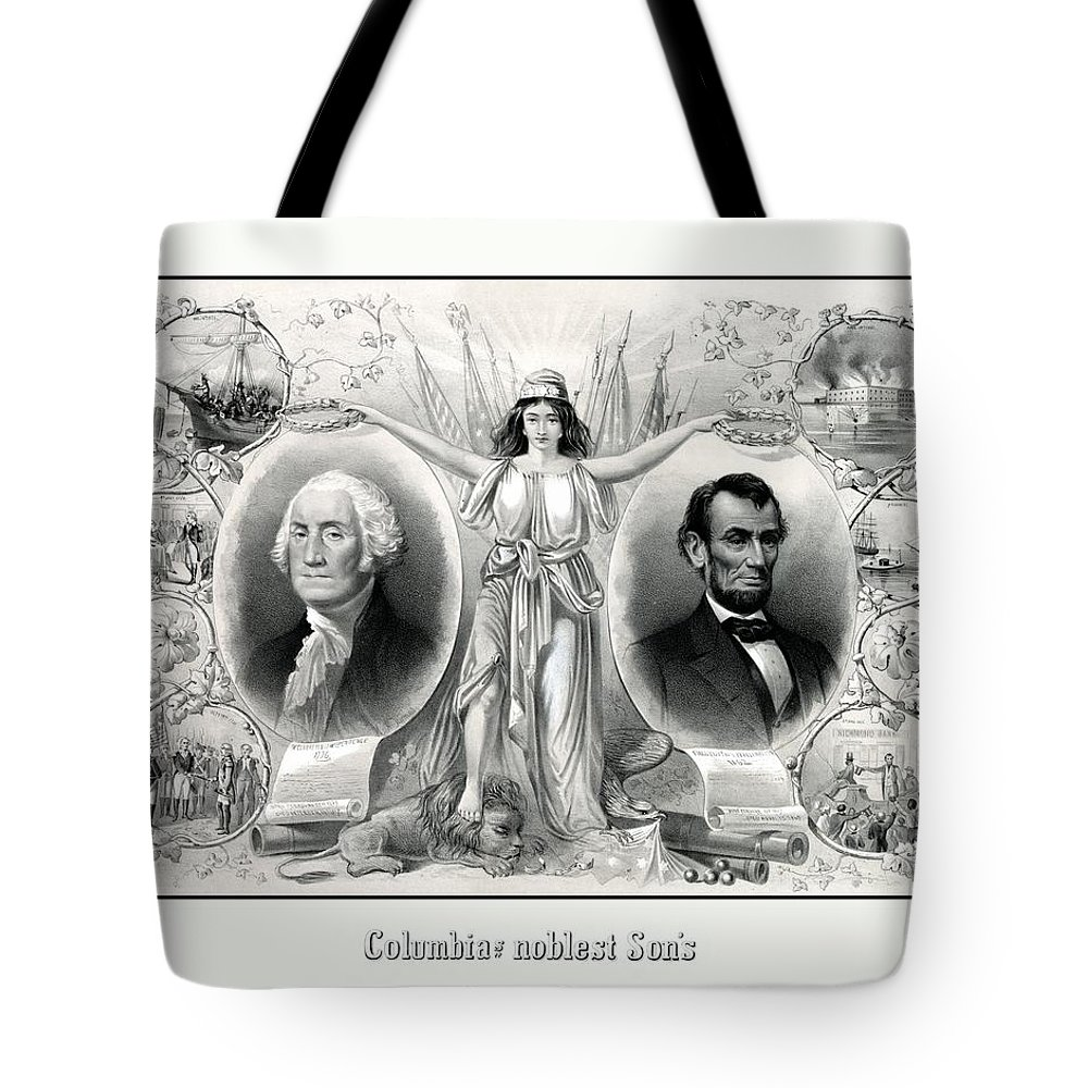 United States Presidents Drawings Tote Bags