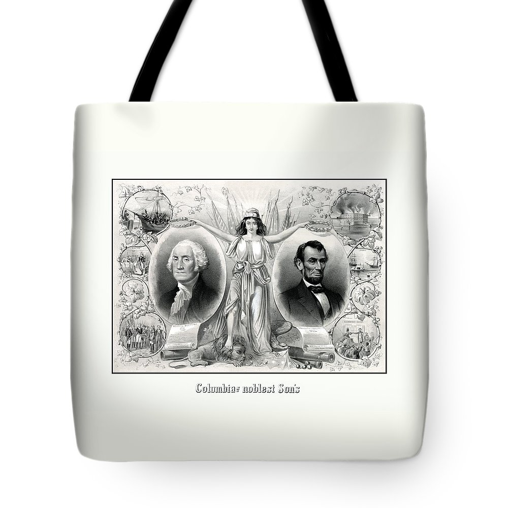 Lincoln Drawings Tote Bags