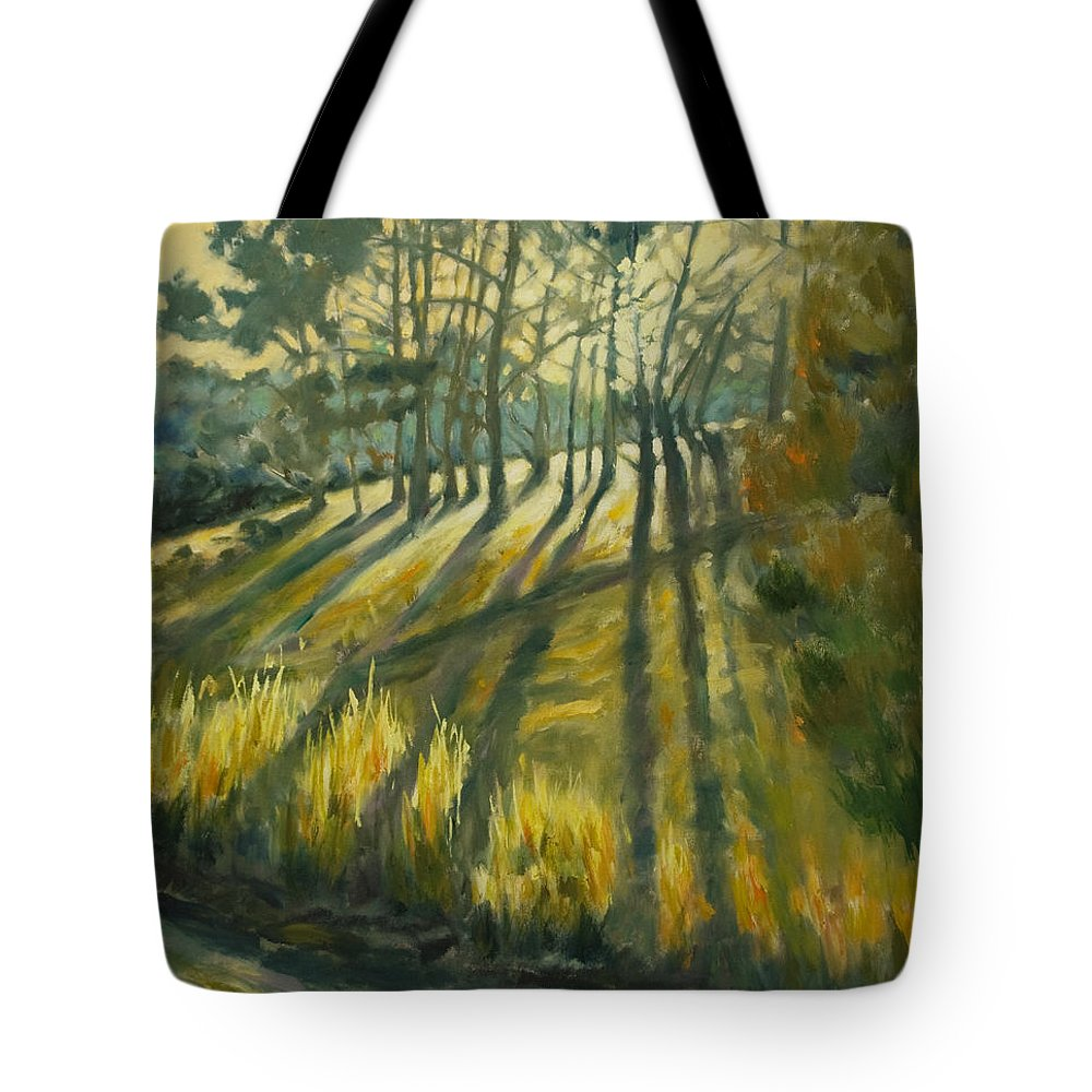 Trees Tote Bag featuring the painting Presidio by Rick Nederlof