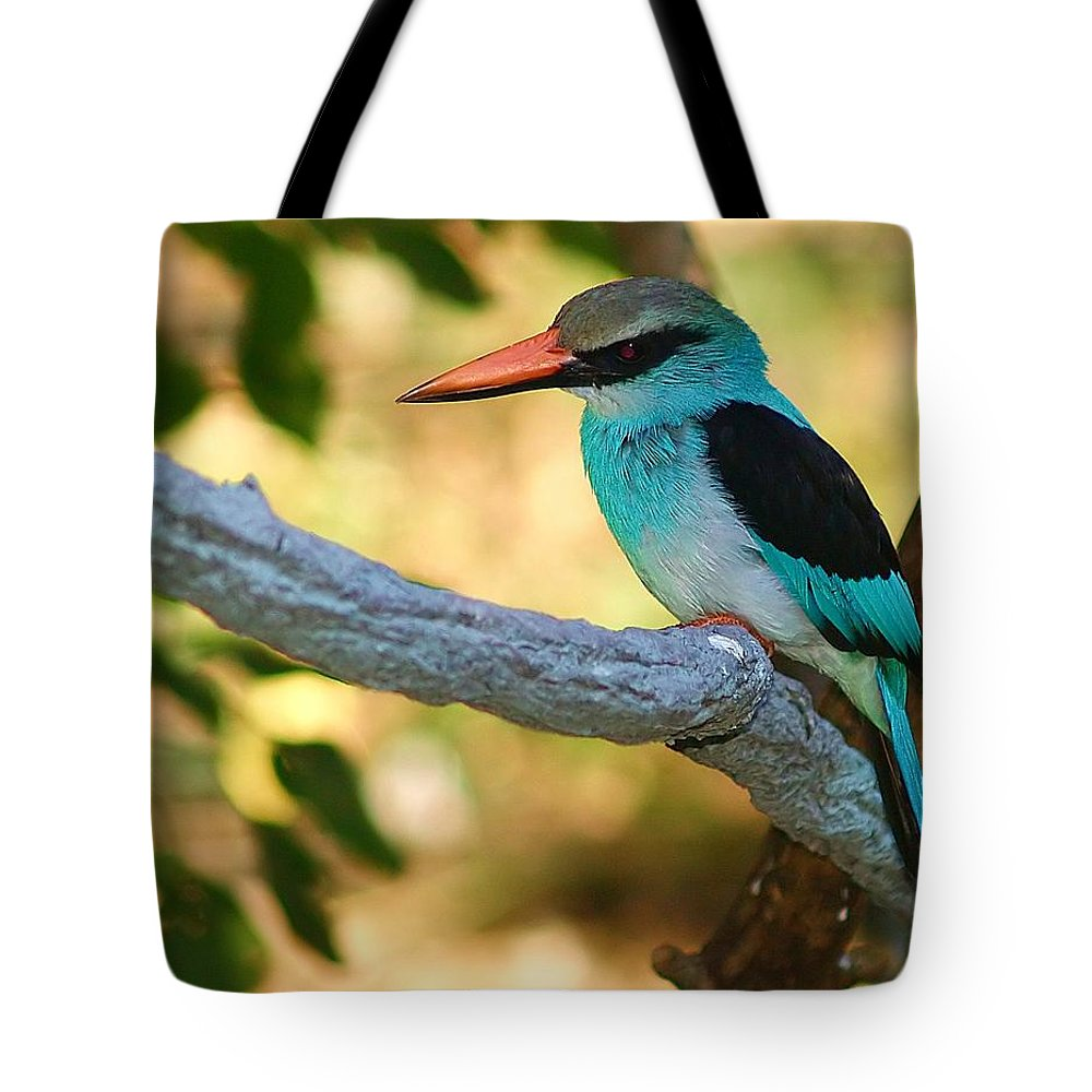 Kingfisher Tote Bag featuring the photograph Pretty Bird by Gaby Swanson