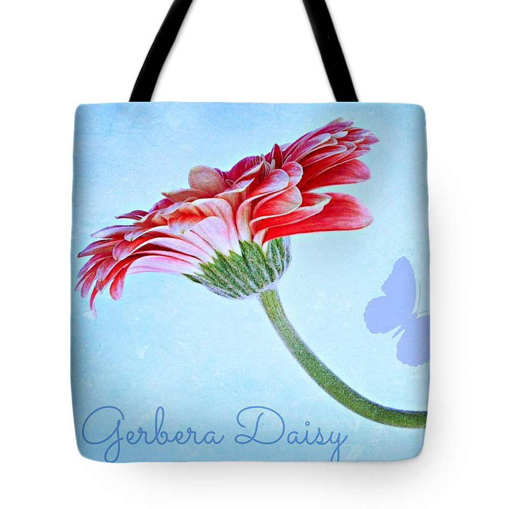 Gerbera Tote Bag featuring the photograph Pretty by Clare Bevan