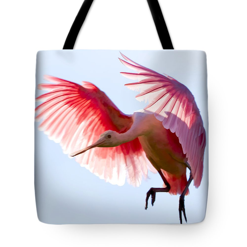 Roseate Spoonbill Tote Bag featuring the photograph Pretty In Pink by Janet Fikar