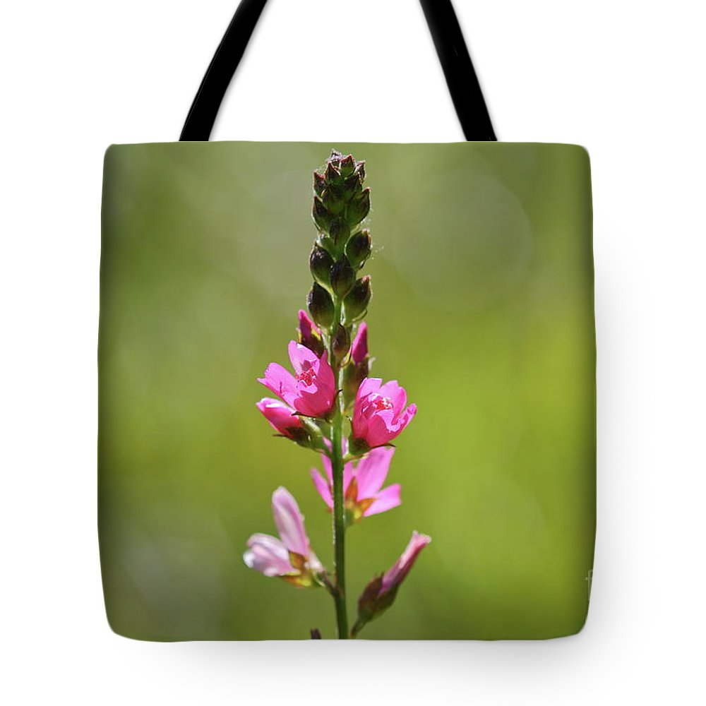 Flower Tote Bag featuring the photograph Pretty In Pink by Leia Hewitt
