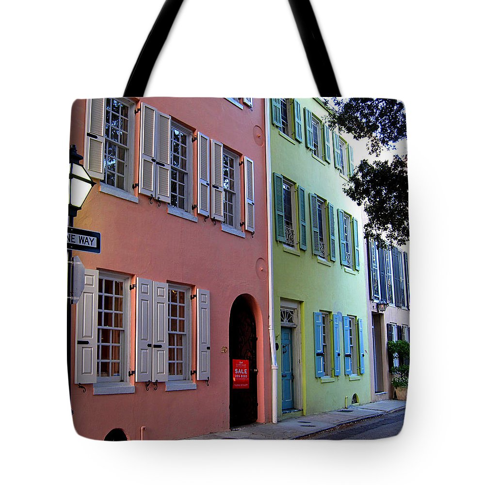 Photography Tote Bag featuring the photograph Pretty Lane In Charleston by Susanne Van Hulst