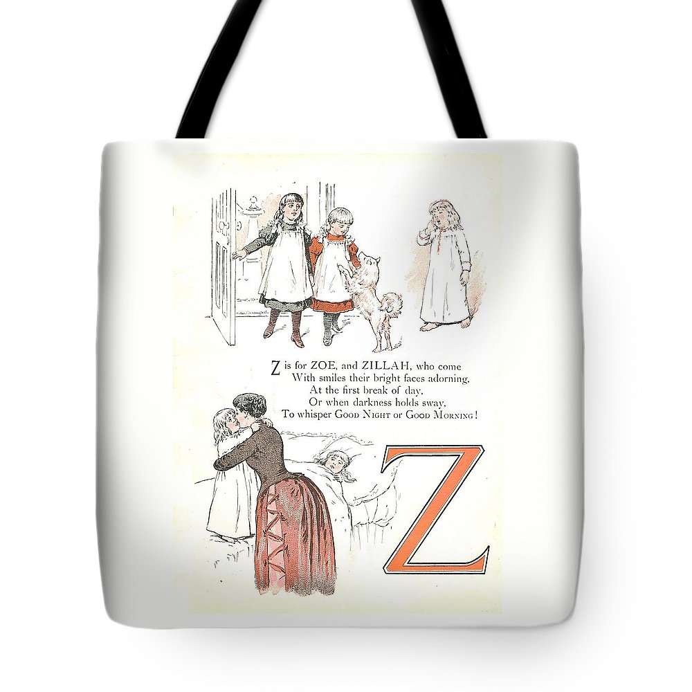 The Wurtherington Diary Tote Bag featuring the painting Pretty Name Abc Letter Z by Reynold Jay