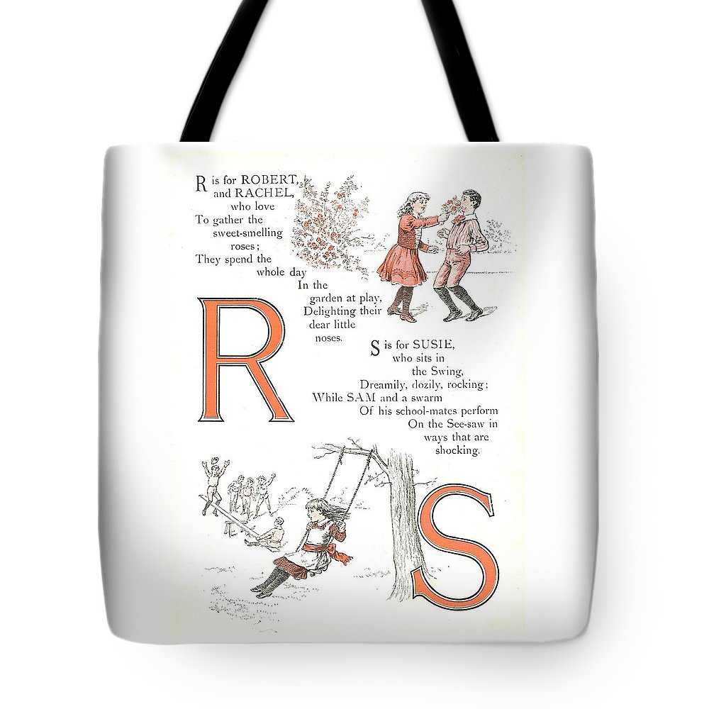 The Wurtherington Diary Tote Bag featuring the painting Pretty Name Abc R And S by Reynold Jay