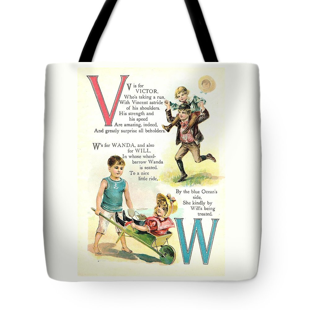 The Wurtherington Diary Tote Bag featuring the painting Pretty Name Abc V And W by Reynold Jay