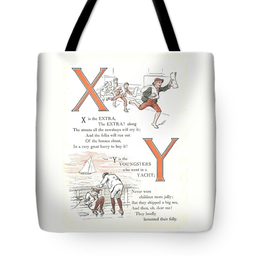 The Wurtherington Diary Tote Bag featuring the painting Pretty Name Abc X And Y by Reynold Jay