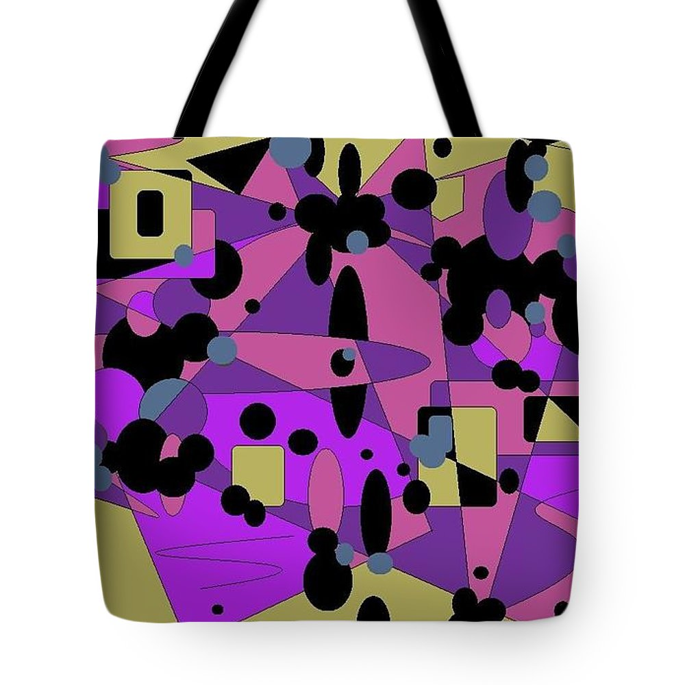 Digital Abstract Tote Bag featuring the digital art Pretty Picture by Jordana Sands