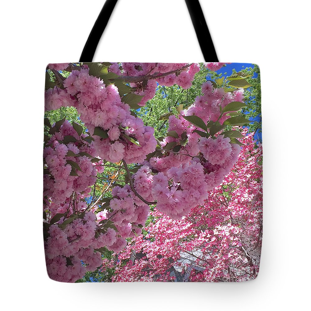 Cherry Tree Blossoms Tote Bag featuring the photograph Pretty Pink Blossoms by Carol Groenen