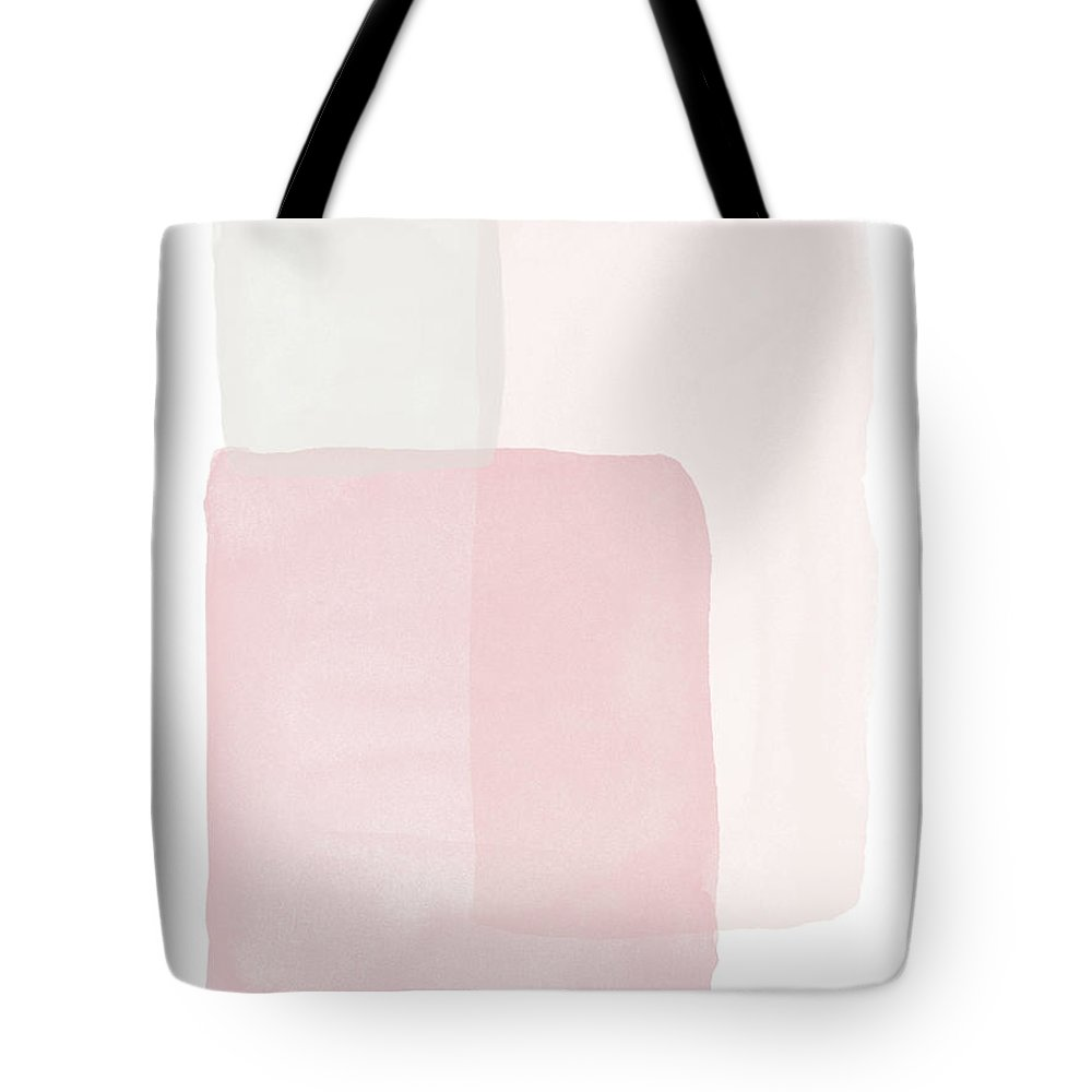 Watercolor Tote Bag featuring the painting Pretty Pink Boxes 1- Art by Linda Woods by Linda Woods