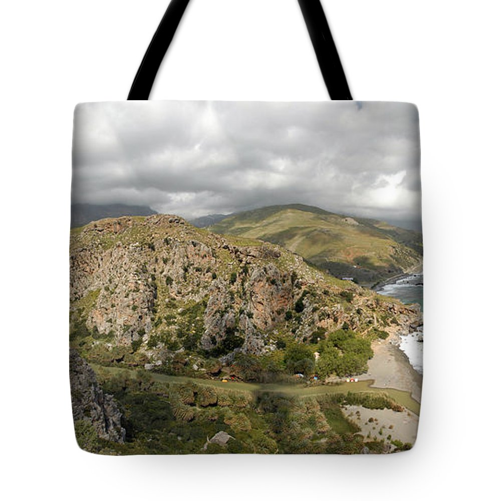 Prevelli Tote Bag featuring the photograph Prevelli Crete by Robert Lacy