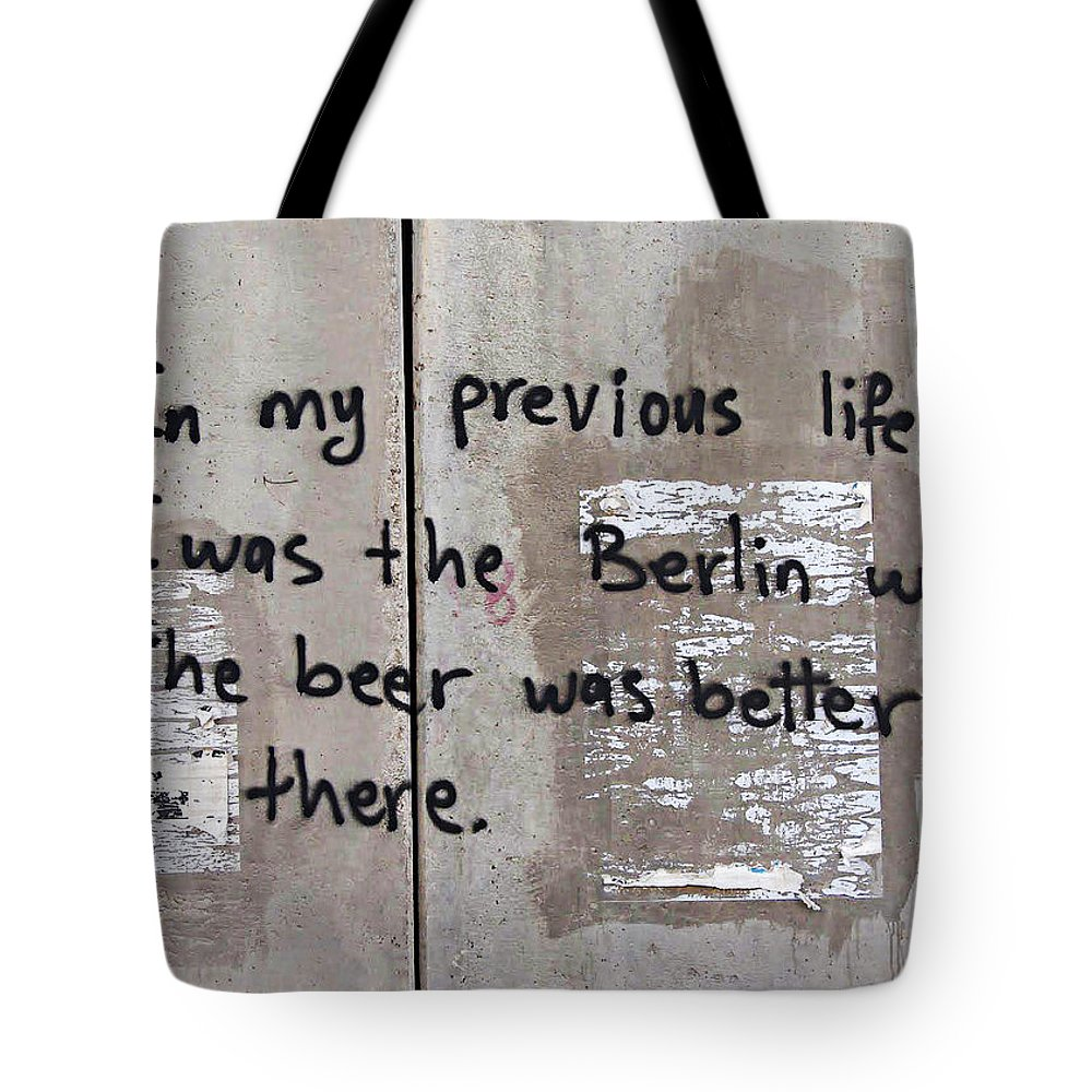 Messages Tote Bag featuring the photograph Previous Life by Munir Alawi